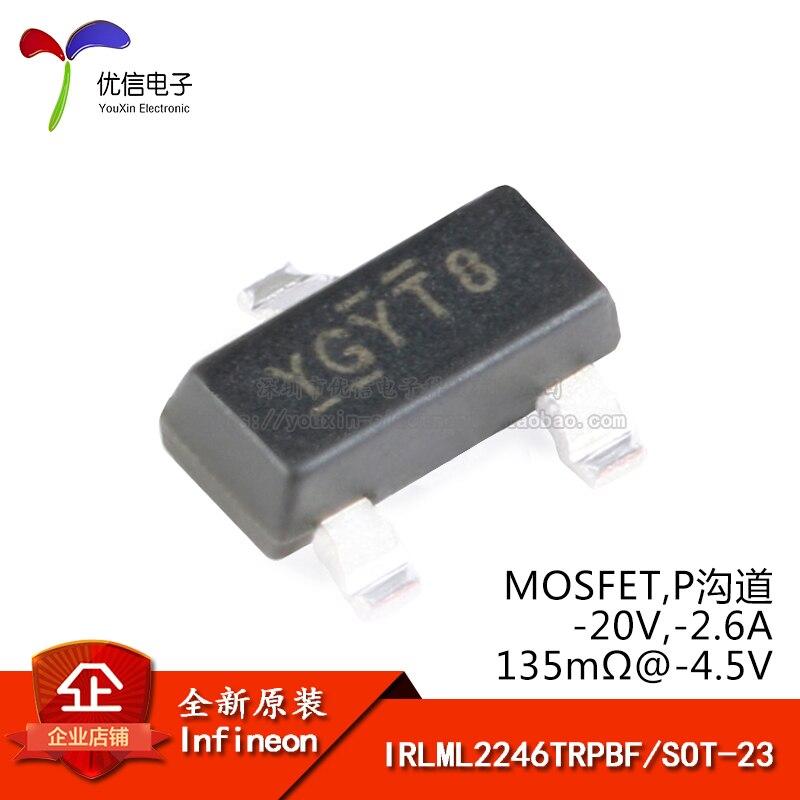 Оригинальный IRLML2246TRPBF SOT-23 P-channel -20 в/ -2.6A патч MOSFET