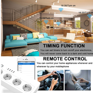 Image 5 - Smart WiFi Alexa Power Strip Intelligent Socket Switch 4 AC Outlets 4 Fast Charging USB Port For  Echo Google Assistant 16A 250V