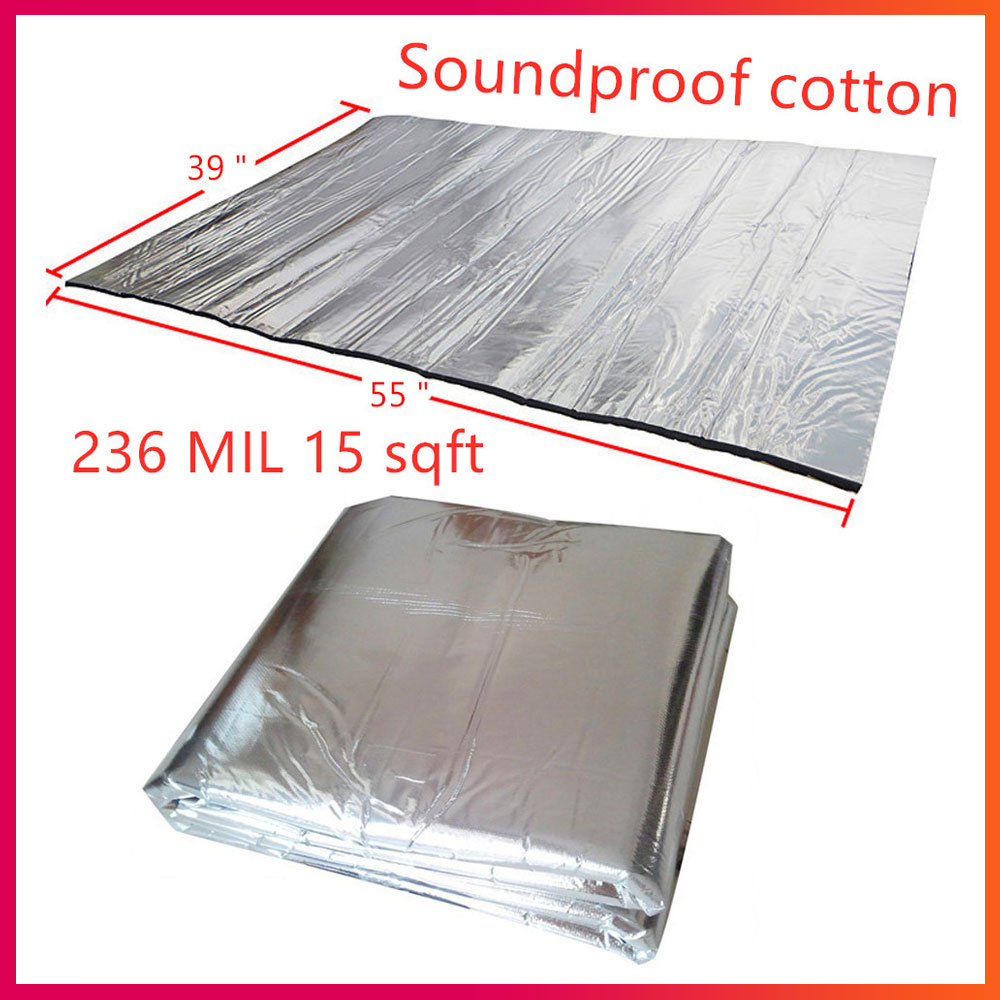 Noise Insulation For Car 15 Sqft Sound Car Proof Auto Insulation Car Car Accessories 140x100cm Engine Firewall Heat Aluminum Foa