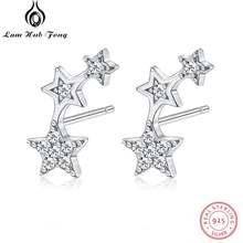 Женские стильные серьги гвоздики из стерлингового серебра 925