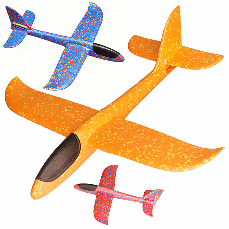 EPP Foam Hand Throw Airplane Outdoor Game Launch Flying Glider Plane 48CM DYI Kids Gift Aeroplane Interesting Toys For Children