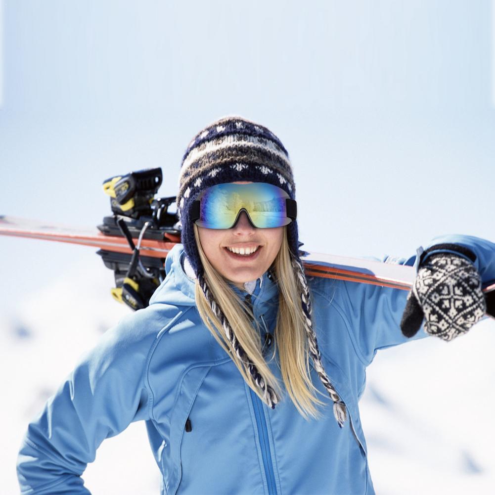 Лыжные очки HD UV400 для мужчин и женщин, незапотевающие лыжные очки, зимние ветрозащитные очки для сноуборда, лыжные очки, очки для сноуборда