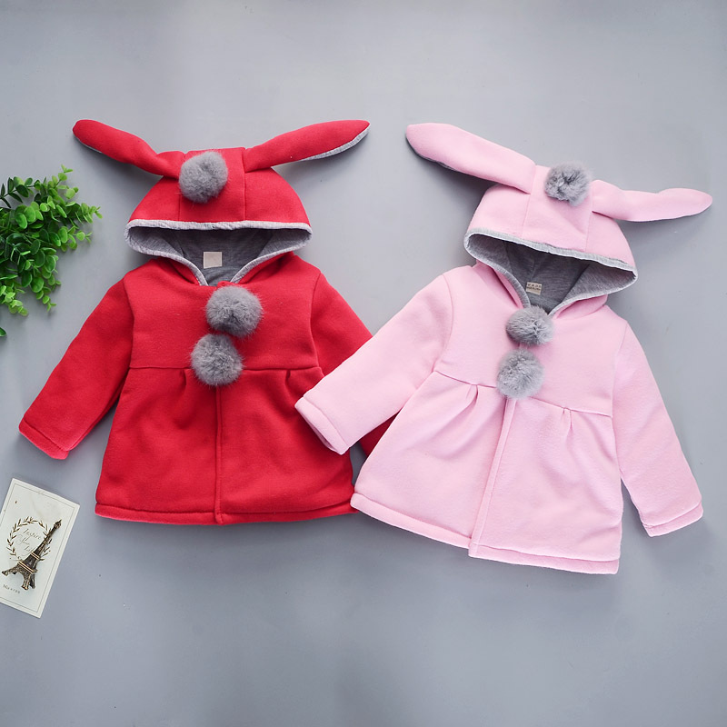 Girls' Shirt 1-4-Year-Old Baby Upperoutergarment Cartoon Hat Formal Dress Korean-style Western Style Women's Clothes For Babie