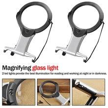 1 шт. Hands Free светодиодный Лупа с подсветкой для чтения лупа износ шеи увеличительное стекло для пожилых людей швейная вышивка
