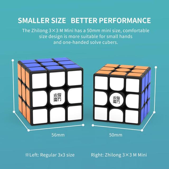 Original YJ Zhilong Mini 3x3 M 4x4 M 5x5 M Magnetic Speed Cubes Small Size YongJun Zhilong Magico Cube Puzzle Toys Magnetic Cube 6