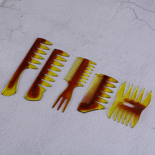 Big Wide Teeth Hair Comb Oil Slick Styling Massage Comb Insert Hair Pick Comb Tooth Classic Hair Brush Hairdressing Accessory cestomen series hairdressing insert curly hair afro comb oil slick hair styling men combs wide tooth professional pomade comb