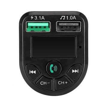 Przenośny do samochodu podwójny USB5 0 ładowarka nadajnik FM MP3 Adapter radiowy gracz 3 1A tanie i dobre opinie