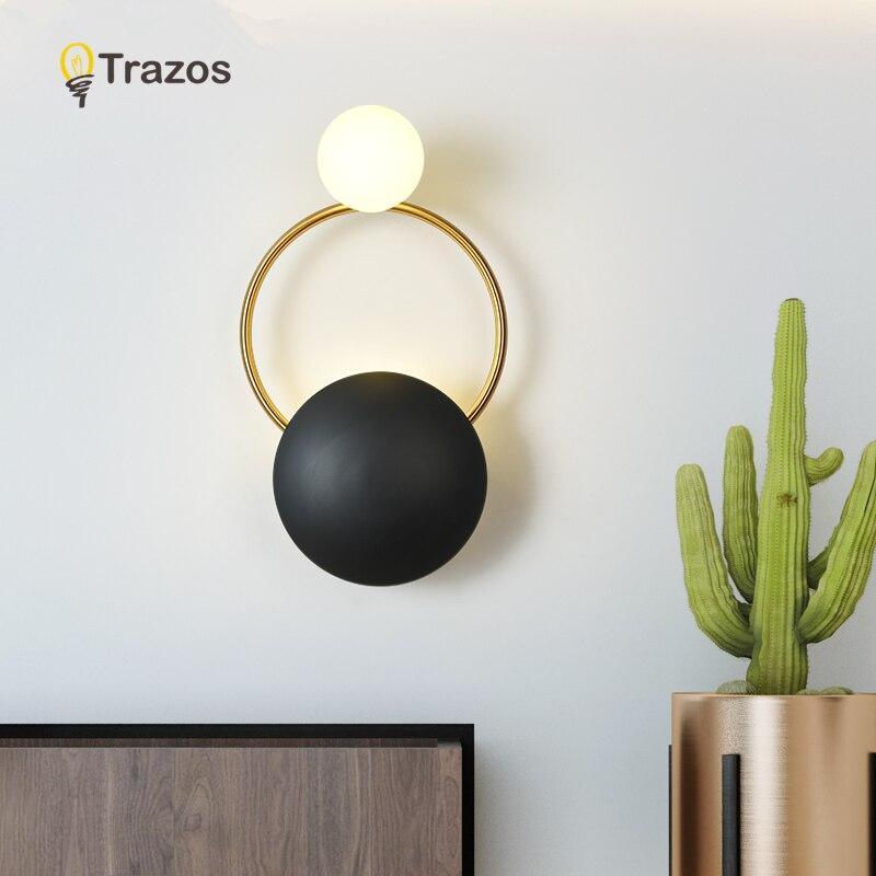 2019 lampes de mur LED modernes pour salon concepteur en métal doré monté en Surface chambre luminaires