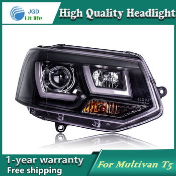 Car Styling Head Lamp case for VW Multivan T5 Headlights LED Headlight DRL Lens Double Beam Bi-Xenon HID car Accessories