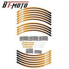 For SUZUKI V Strom250 DL250 DL 250 V Strom/DL250 Motorcycle Reflective Wheel Rim Stripe Decal Sticker Front Rear Decal Full Set