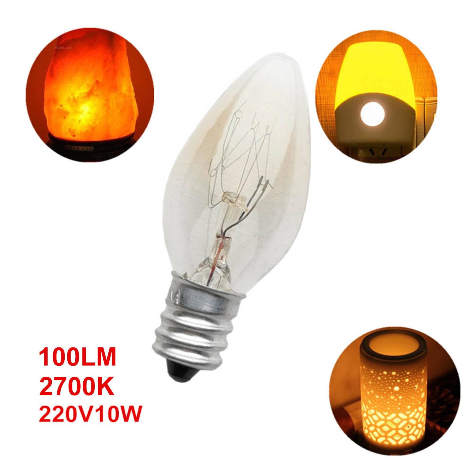 Лампа накаливания E12 C7, алюминиевая лампа накаливания с небольшим винтом, 220-240 В, 10 Вт, # W0