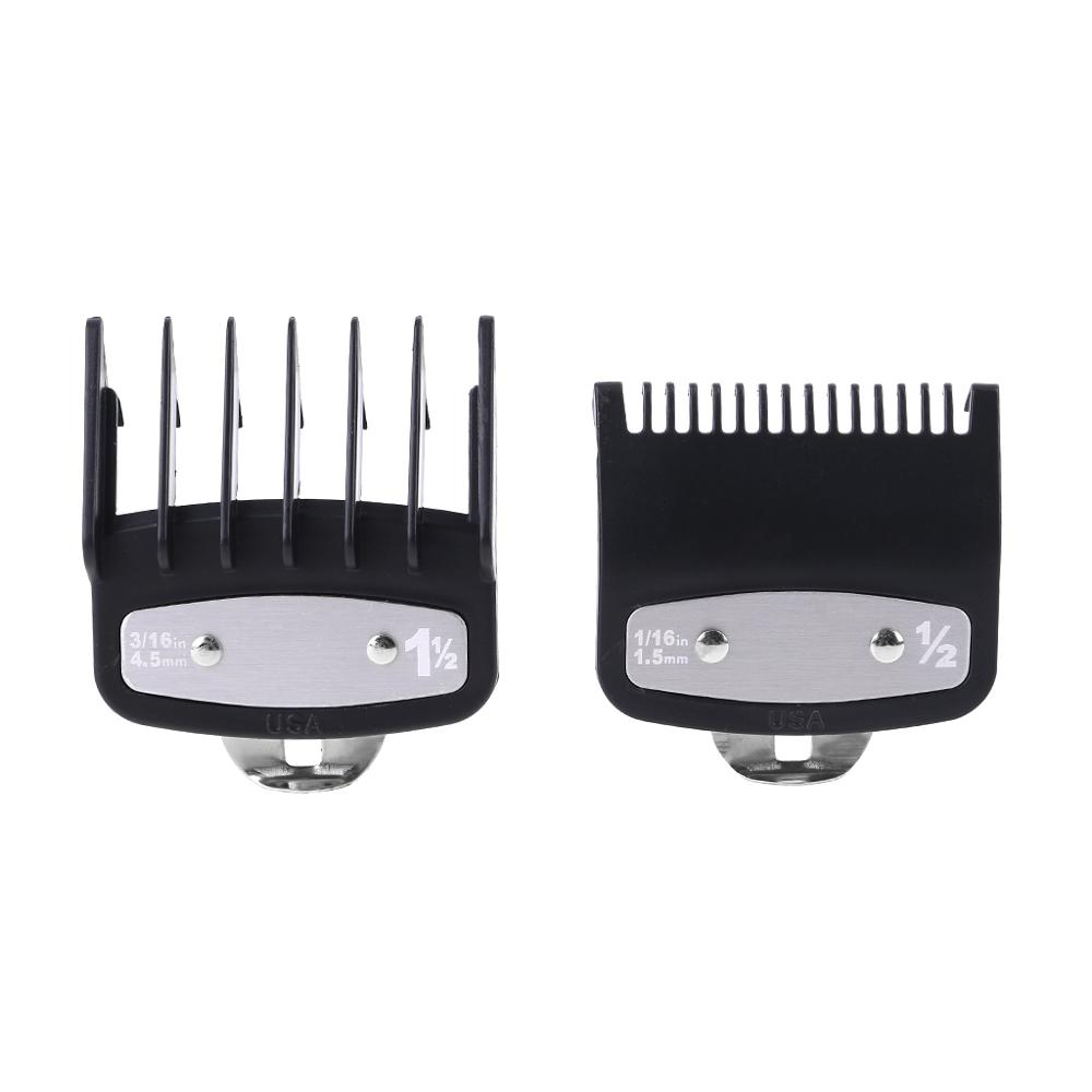 1PC/2PCS Professional Cutting Guide Comb Hair Clipper Limit Comb With Metal Clip