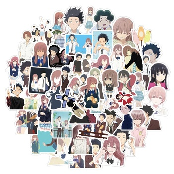 50 Pcs Anime Koe No Katachi A Silent Voice Ishida ShoyaWall Decor Fridge Motorcycle Bike Refrigerator Laptop Car Stickers image