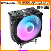 Dark flash S11 4 أنابيب الحرارة ARGB وحدة المعالجة المركزية برودة المبرد الصامت PWM 4PIN 120 مللي متر مروحة إنتل LGA 1150 1151 1200 1366 2011 AM4 Ventilador