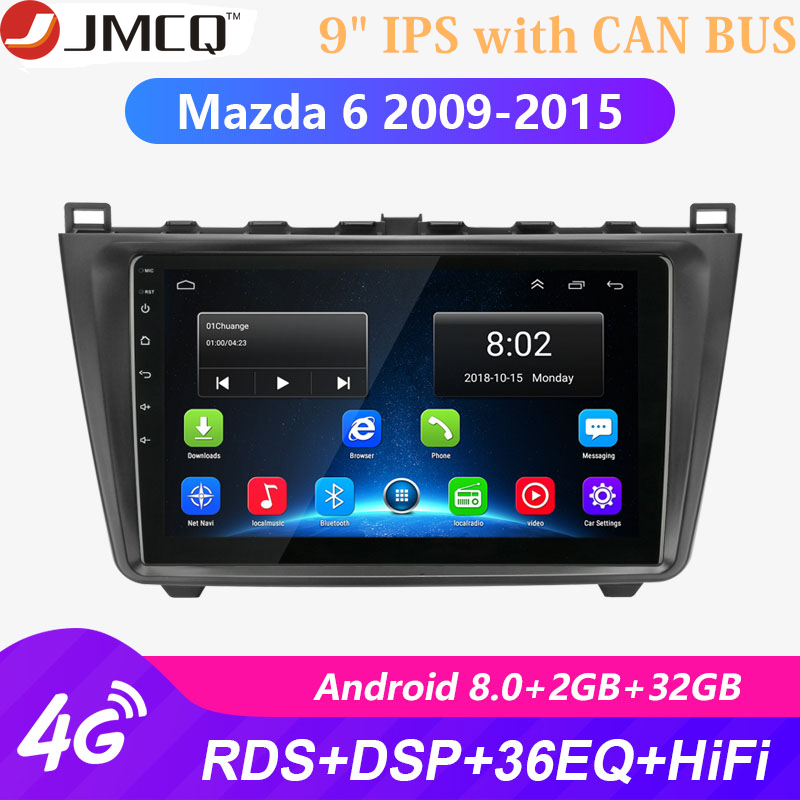 <font><b>Android</b></font> 8.1 2DIN 2G+32G Car Head Unit Radio Audio <font><b>Multimedia</b></font> Player For <font><b>Mazda</b></font> <font><b>6</b></font> Rui wing 2009-2015 Navigation GPS + CAN BUS image