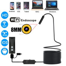 Wireless WiFi Endoscope Camera HD 1200P Soft/Hard Cable Inspection Camera 8mm Borescope for IOS Android PC Mobile Endoscope usb