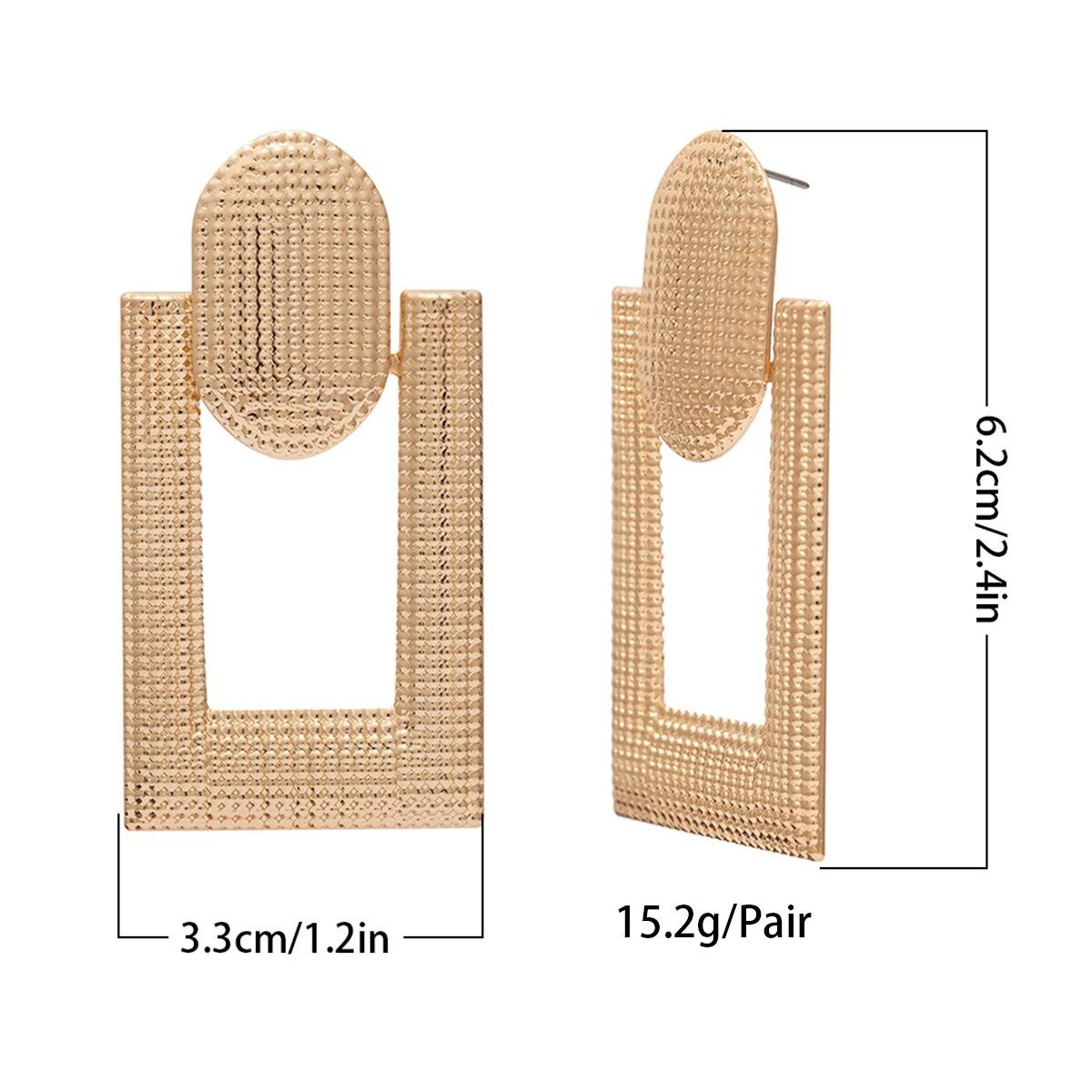 SHIXIN Big Drop Earrings for Women Geometry Statement Earrings 2019 Korean Fashion Jewelry Stylish Large Hanging Earings Female
