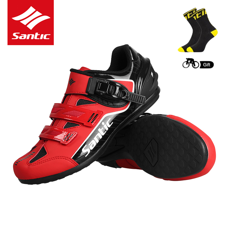 SANTIC vélo vélo chaussures vélo vtt Sneaker respirant montagne route vélo chaussures Sport de plein air antidérapant sans verrouillage équipement
