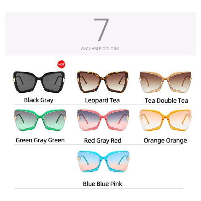 Фото 2020 большие солнцезащитные очки «кошачий глаз» женские новые цена