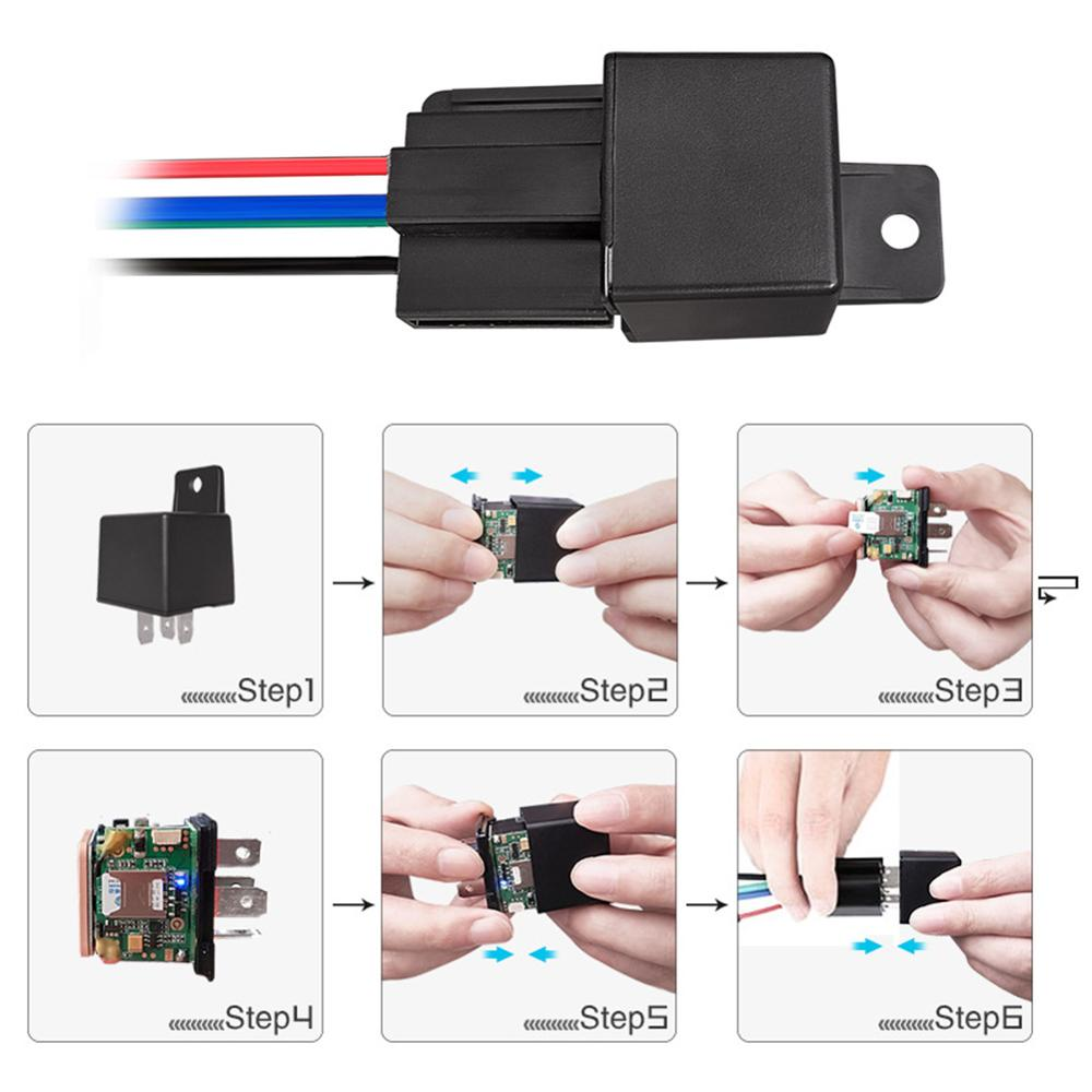 Intelligent Anti-theft 10-40V Mini Car GPS Tracker Relay Cut Oil Hidden Design Real-time Tracking Remotely Cut And Restore Fuel