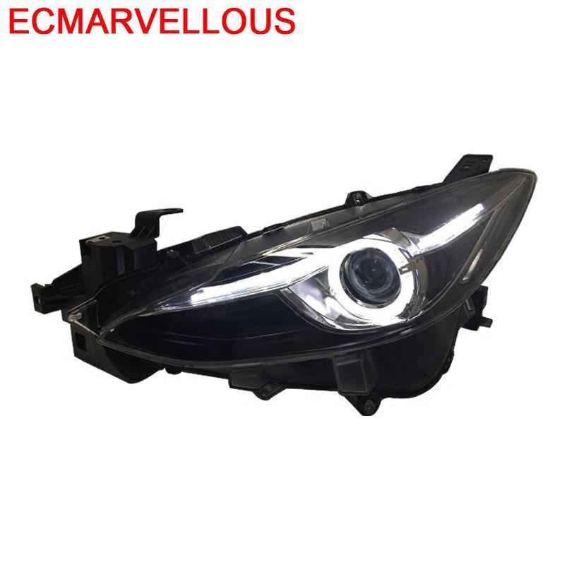 Pièces Luces lampe extérieur Drl Automovil Neblineros Led Para Auto diurne phares voiture lumières assemblée pour Mazda Axela