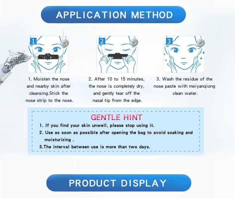 2019 ホット販売細孔ストリップ剥離にきび治療の黒ディープクレンジングスキンケア鼻ストリップにきび除去マスク