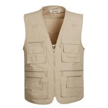 Jackets Waistcoat Sleeveless Fishing-Vest Traveler Outdoors Summer Casual with Large-Size