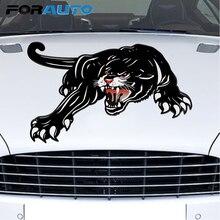 FORAUTO 45*28 см виниловые наклейки на машину с тигром, Авто Наклейка для двери, креативные наклейки для автомобиля, украшение для капота, аксессуары для стайлинга автомобиля