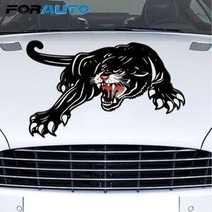 Image 1 - FORAUTO 45*28cm Auto Aufkleber Vinyl Tiger Auto Aufkleber Für Tür Kreative Aufkleber Für Auto Haube Dekoration Auto styling Zubehör