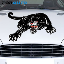 FORAUTO 45*28cm Car Stickers Vinyl Tiger Auto Sticker For Door Creative Decals For Car Hood Decoration Car Styling Accessories