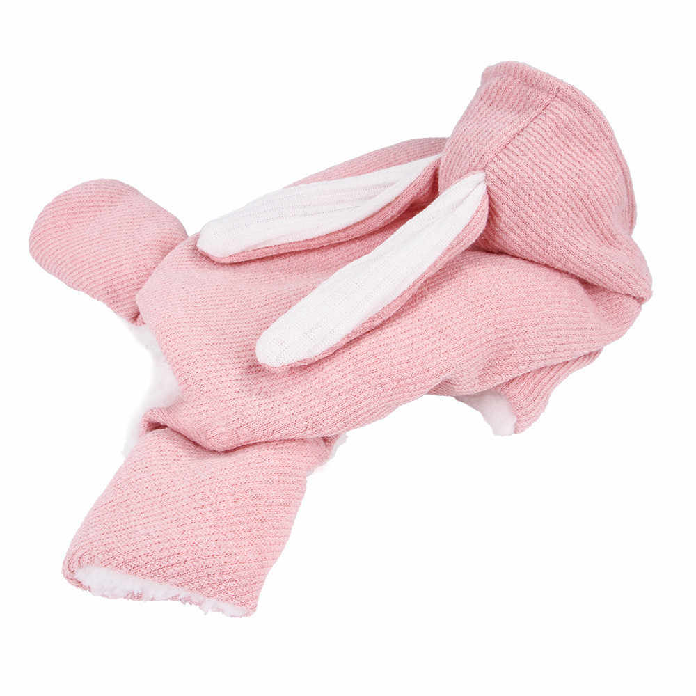 Комбинезоны для собак, зимняя одежда для собак с капюшоном и кроличьими ушками, свитер для питомцев, пальто для зимних собак, комбинезон для собак 40