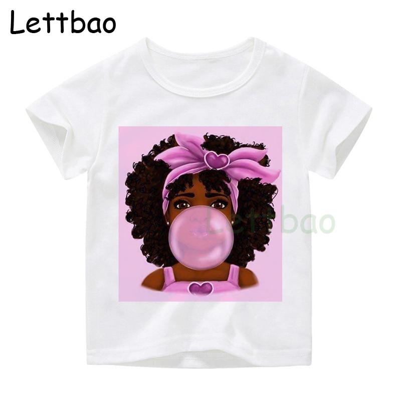 Крутая белая футболка в стиле хип хоп Харадзюку для маленьких девочек в Корейском стиле с изображением жевательной резинки; Цвет Черный; Модный милый топ|Тройники| - AliExpress