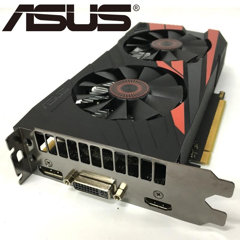 Видеокарта ASUS, оригинал GTX950, 2 ГБ 128 бит GDDR5 графические платы для nVIDIA, видеоадаптеры Geforce GTX 950, б/у, для игр 1050 750 TI-4