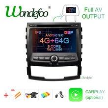 DSP ips экран 4G 64G Android 9,0 AV выход 2 DIN Автомобильный dvd-плеер для SSANGYONG KORANDO gps навигация радио мультимедиа Sterero