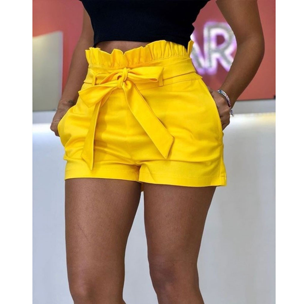 Shorts Elastic Wide-Leg England-Style Sexy High-Waist Summer Women Ladies Autumn Slim title=