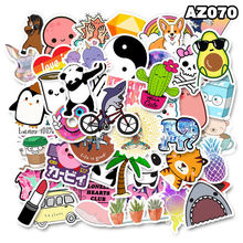 50pcs Fashion Fresh Waterproof Removable Explosion Cute Cartoon Trolley Case Laptop Water Cup Stickers