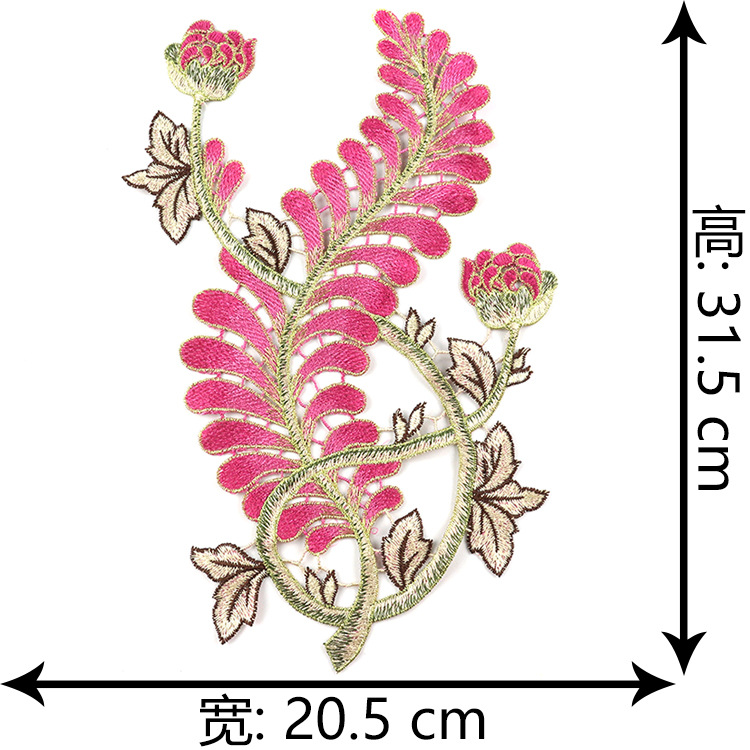 Embroidery Water Soluble Flower Patch Clothing Decoration Repair Holes Accessories Patch Embroidered Flower Patch Spot Wholesale