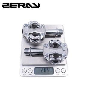 Image 5 - ZERAY MTB pedallar Cleat ile ZP 108S ile uyumlu SPD kendinden kilitli alüminyum alaşımlı çift taraflı çok fonksiyonlu bisiklet aksesuarları