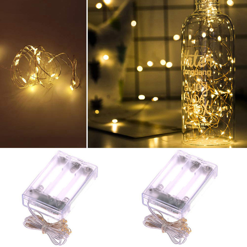 Led String Lights 1-10M Battery Operated Copper Wire Fairy Lights Holiday Garland For Christmas Tree Wedding Party Decoration