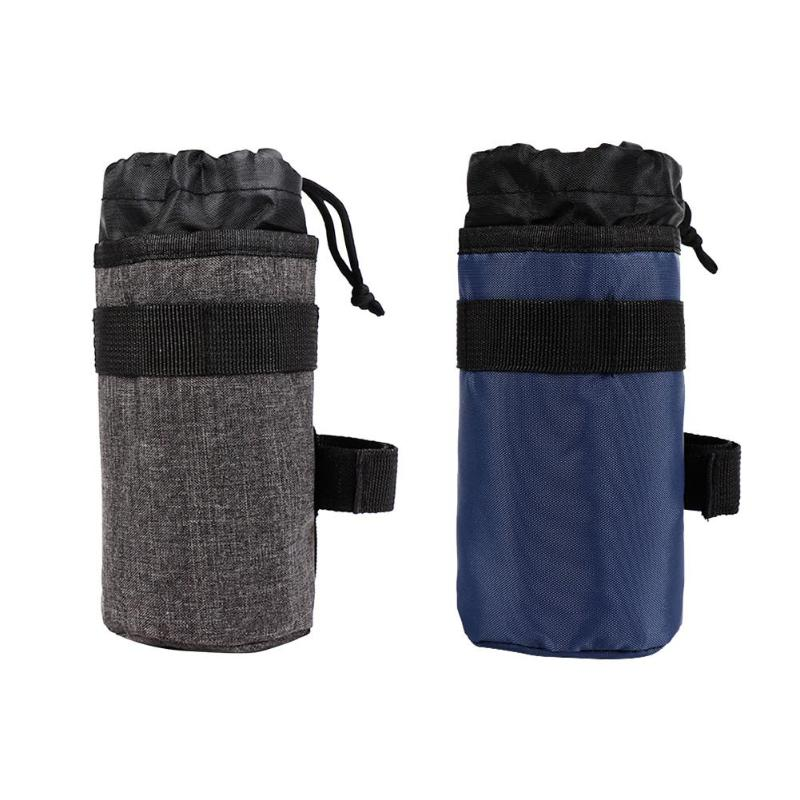 <font><b>Bike</b></font> Handlebar Stem 750ml Kettle Bag Cycling Insulated Water <font><b>Carrier</b></font> Pouch Portable Bicycle <font><b>Accessories</b></font> image