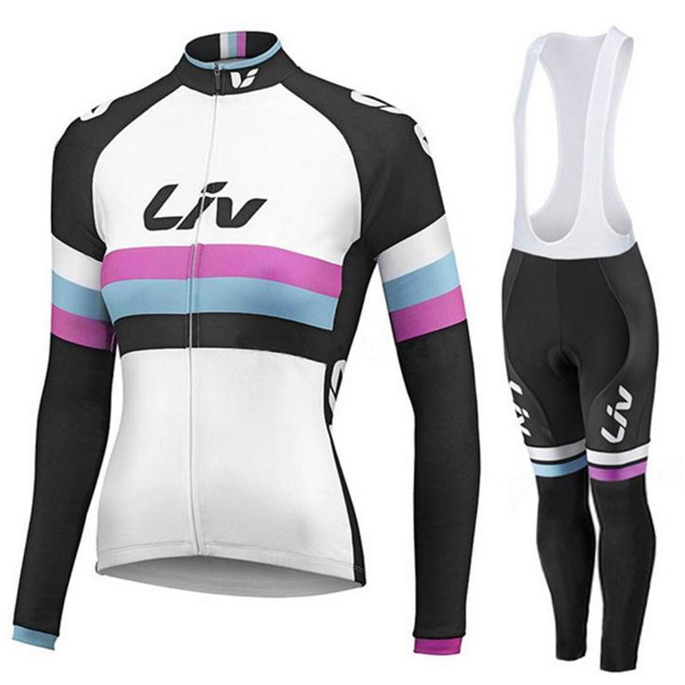 Liv Winter Thermal Fleece Cycling Jerseys Sets Women Cycling Set Long Sleeve Bicycle Jacket Team Cycle Wear Ropa Ciclismo Mujer