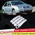 Для Volkswagen VW Jetta 4 A4 Bora MK4 1998 1999 2000 2001 2002 2003 2004 2005 хромированные дверные ручки крышки Накладка набор автомобильные аксессуары