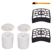 цена на 2Pcs For Replacement Shark Nv650 Filter, Compatible Shark Rotator Powered Lift-Away Nv650 Replacement Parts And Cleaning Brush
