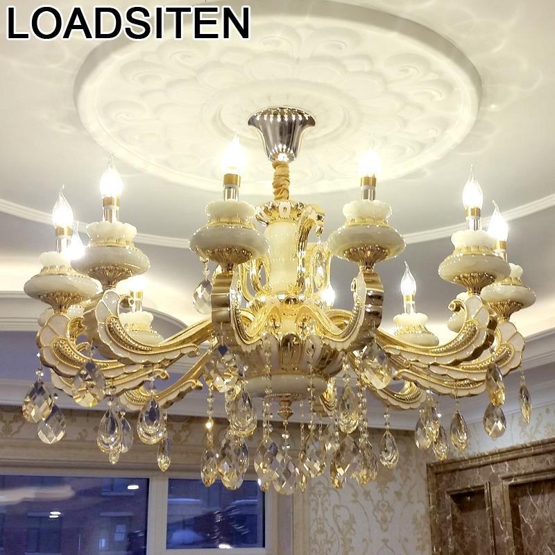 Luminaires Vintage pendentif lumière nordique éclairage cristal Loft décor Luminaire Suspendu Lampen moderne Lampara Colgante suspension-in Lampes à suspension from Lampes et éclairages on LOADSITEN -LAMP Store