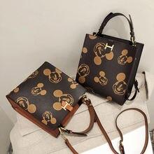 Disney Микки Маус женские сумка pu Минни курьерские сумки на