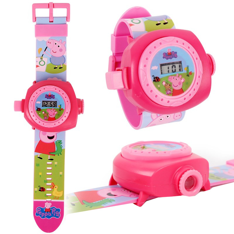 Peppa Pig Projection Watch Action Figure Peppa Pig Birthday Anime Figure PEPPA PIG Patrulla Canina Toy Gift