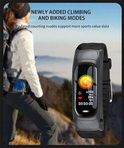 Image 4 - B9 חכם שיחת צמיד Bluetooth אוזניות צמיד קצב לב צג גשש כושר אוזניות חכם להקת דיבור עבור IOS אנדרואיד