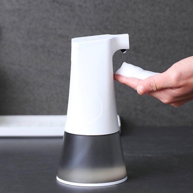 0,25 s высокочувствительный сенсорный USB Перезаряжаемый автоматический дозатор пенного мыла IPX4 Водонепроницаемый 350 мл Ручная стирка для кухни ванной комнаты
