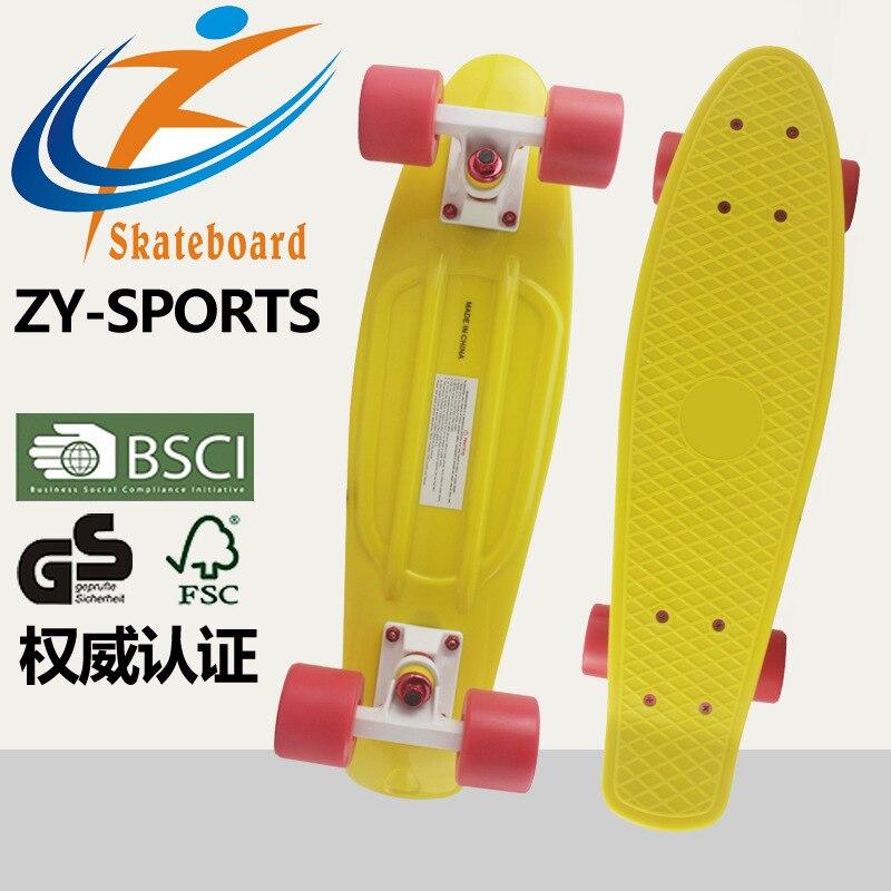 Kunststoff Fisch Skateboard Vier Rad Kunststoff Große Fisch Skateboard Erwachsene Beruf Skateboard PP27 Inch Fisch Boards Hersteller D - 2