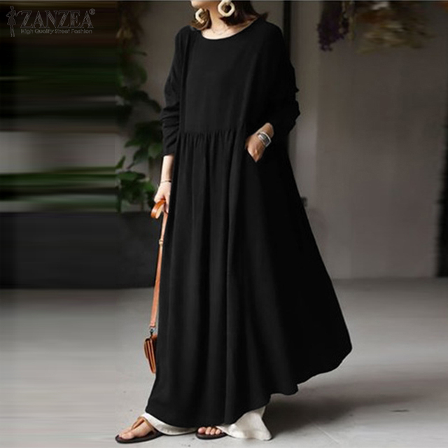 extremely comfortable long casual dress, long sleeves day to night 2